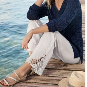 soft Surroundings Touch of Lace Gauge Pant